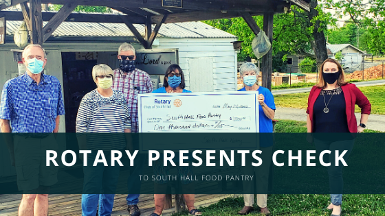 South Hall Food Pantry Check Presentation | South Hall Rotary